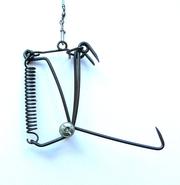 Двойной капкан Fintrap на щуку из вороненого металла. Щучий капкан.